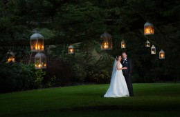 donegal wedding photographer bride and groom wedding photo among lanterns in a tree