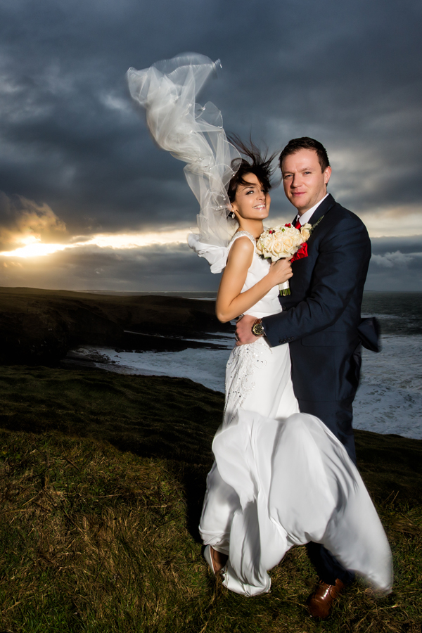 donegal wedding photography bride and groom winter wedding photo