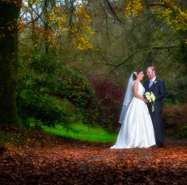 wedding photos in autumn in donegal