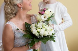sligo wedding photographer bride with her flowergirl