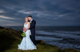 wedding photography in donegal amazing photo of bride and groom by the sea