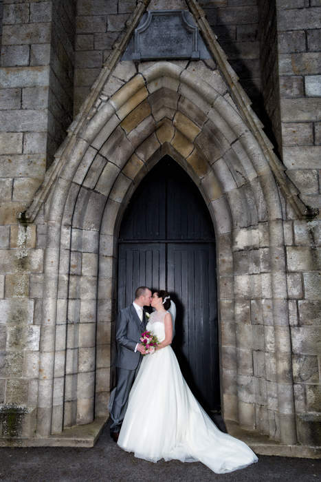 bride and groom at mary queen of peace church bundoran
