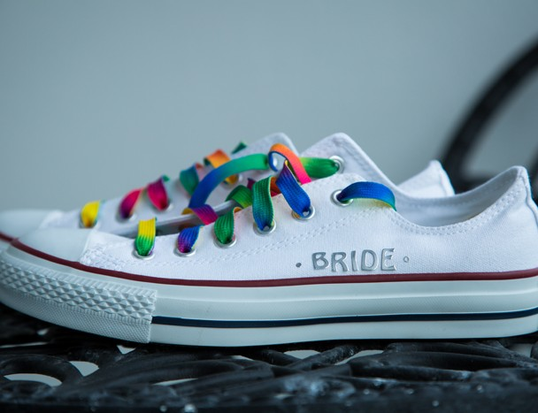 brides all star wedding shoes