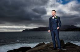 groom wedding photo in donegal