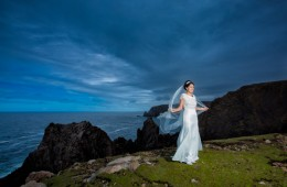 arranmore island wedding photo of a stunning bride