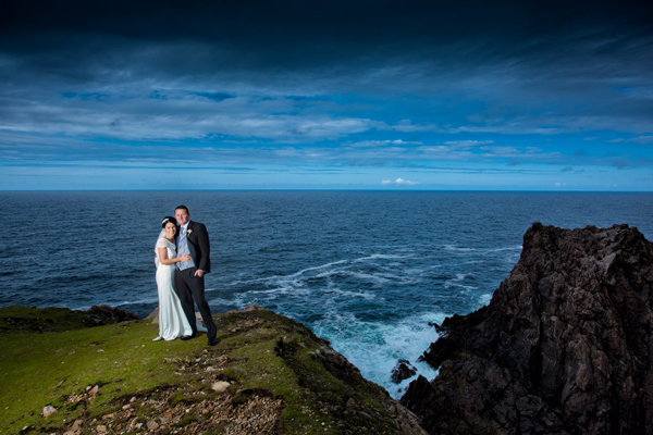 donegal wedding photographer bride and groom on arranmore island