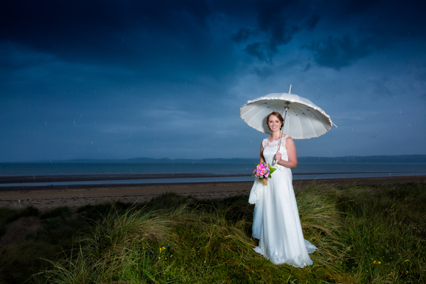 donegal wedding photographer in the mill park hotel bride on a rainy wedding day