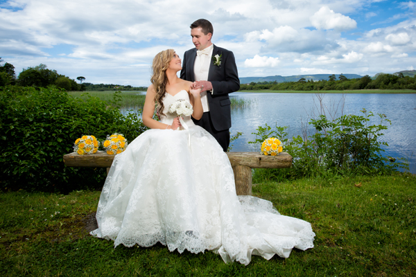 sligo park hotel wedding beautiful bride and groom