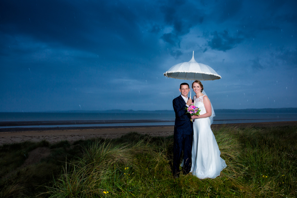 sligo wedding photography bride and groom on a wet wedding day