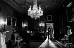 sligo wedding photographer bride and groom in a castle