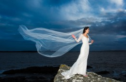 killybegs wedding amazing bride portrait on the donegal coast