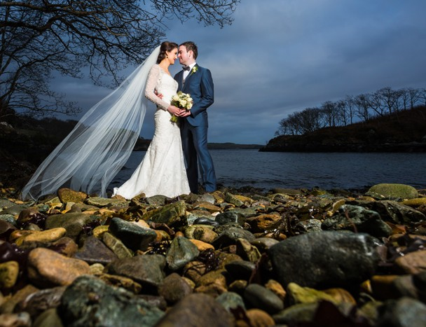 killybegs wedding photographer bride and groom on the beach
