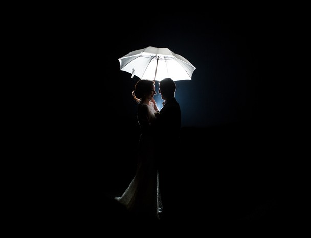 mill park hotel donegal wedding bride and groom night photo
