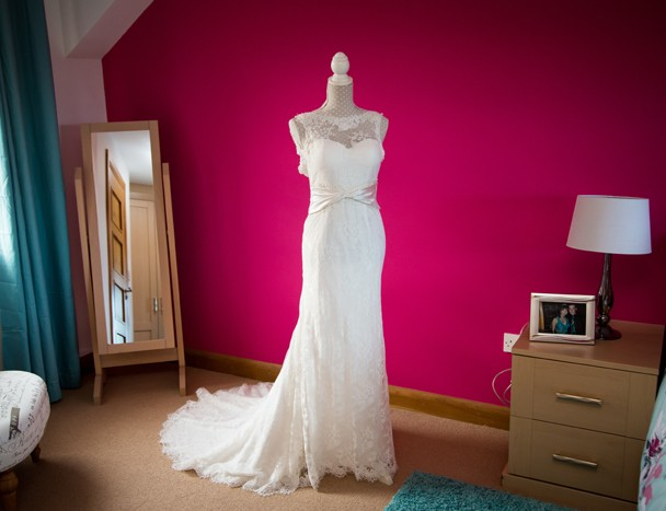 mill park hotel wedding brides wedding dress photo