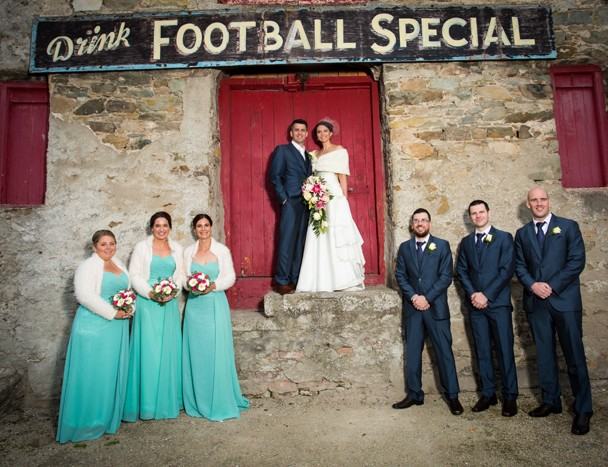 silver tassie hotel wedding bridal party photo in ramelton