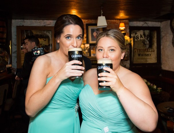 silver tassie hotel wedding bridesmaids with guinness