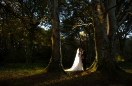 sligo wedding photography bride and groom in the woods