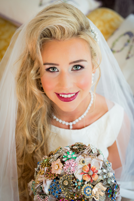 stunning wedding photo of beautiful castelderg bride