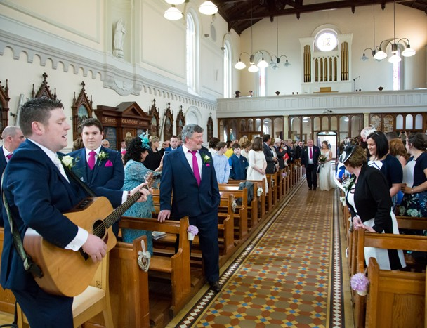 donegal groom sings bride down the aisle