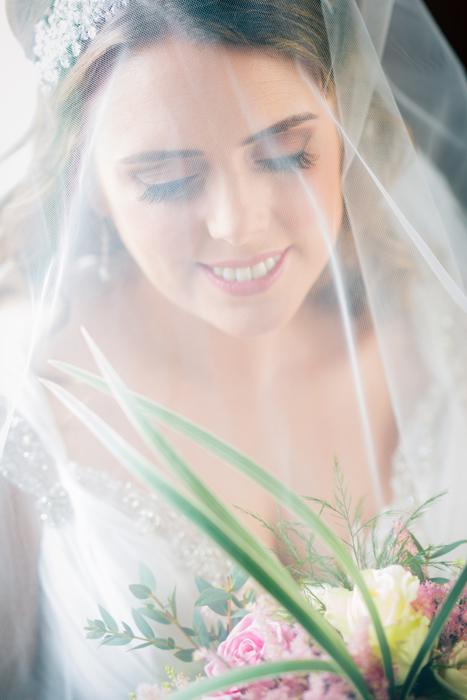 donegal wedding photographer bride portrait under her veil