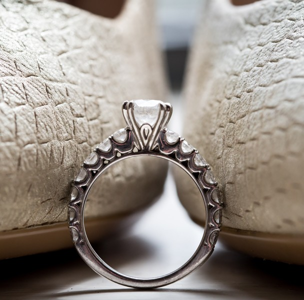 donegal wedding photography brides engagement ring and wedding shoes