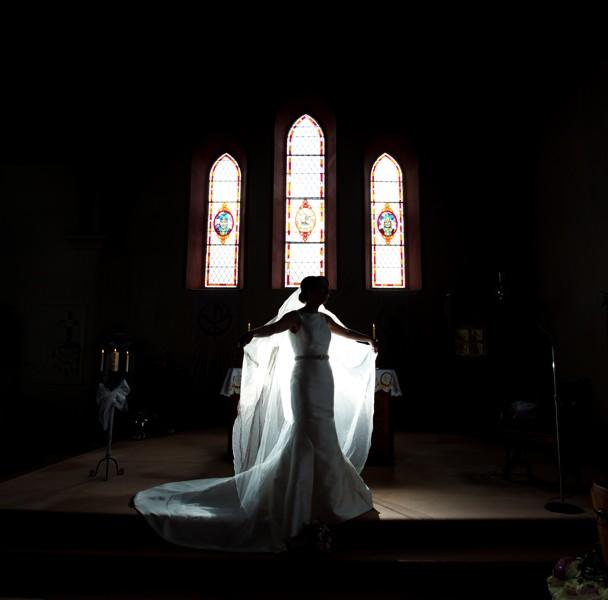 fermanagh wedding photographer bride in belleek church