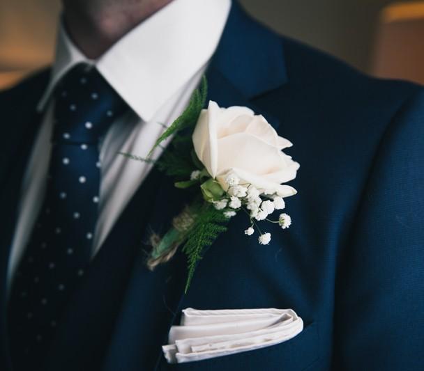 sligo groom wedding button hole flower