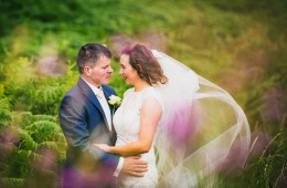 donegal and sligo wedding photographer bride and groom in a beautiful meadow