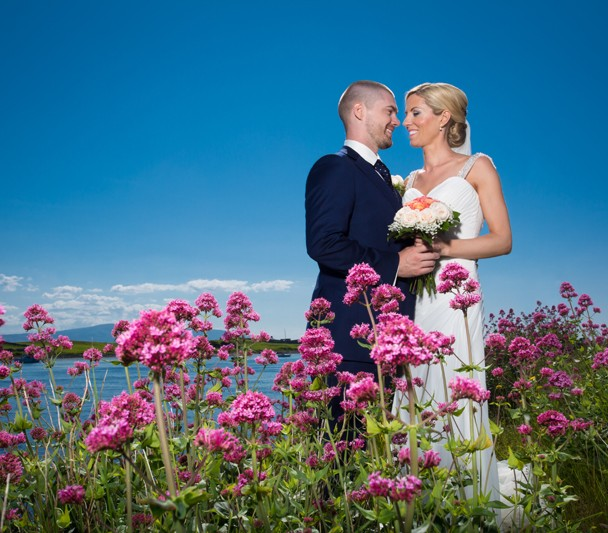 rosses point wedding bride and groom photo