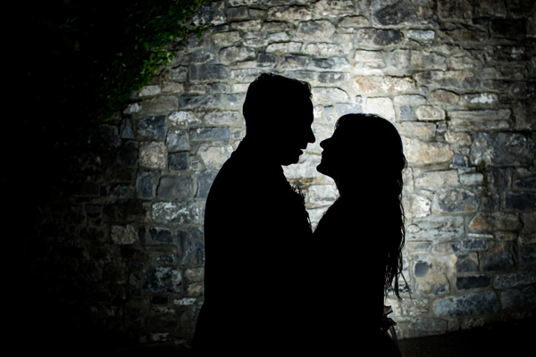 sligo wedding photo of bride and groom at night by sligo wedding photographer