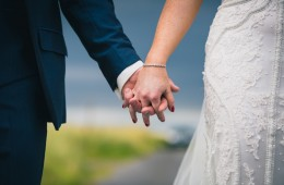 sligo wedding photographer bride and groom hold hands