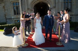 solis lough eske wedding bride and groom confetti photo