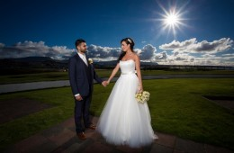 Donegal wedding photographer bride and groom at great northern hotel bundoran