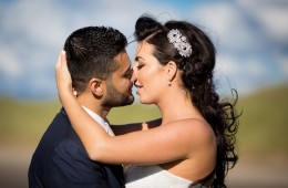 donegal wedding photographer beautiful couple kiss