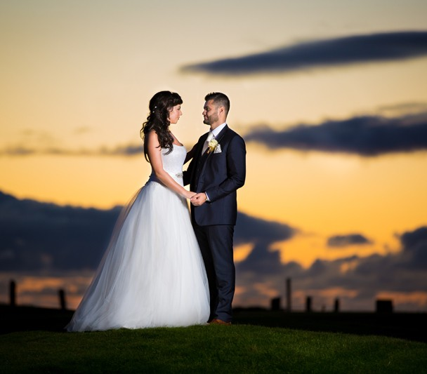 donegal wedding photographer stunning bridal portrait at sunset