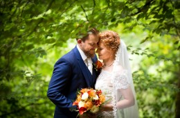 donegal and sligo wedding photographer bride and groom in autumn forest