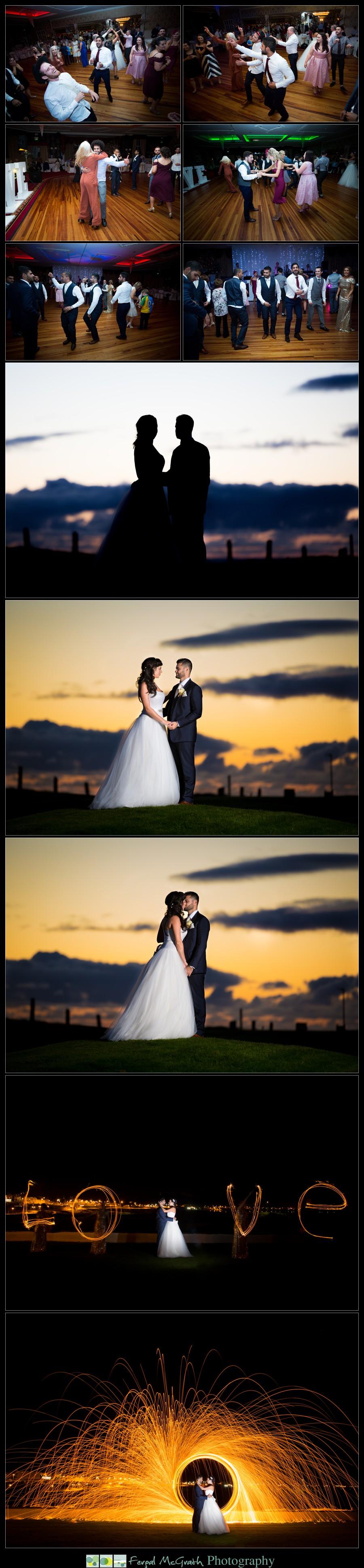 Great Northern Hotel Bundoran Wedding Niamh and Khalil beautiful bride and groom photos at sunset in ireland