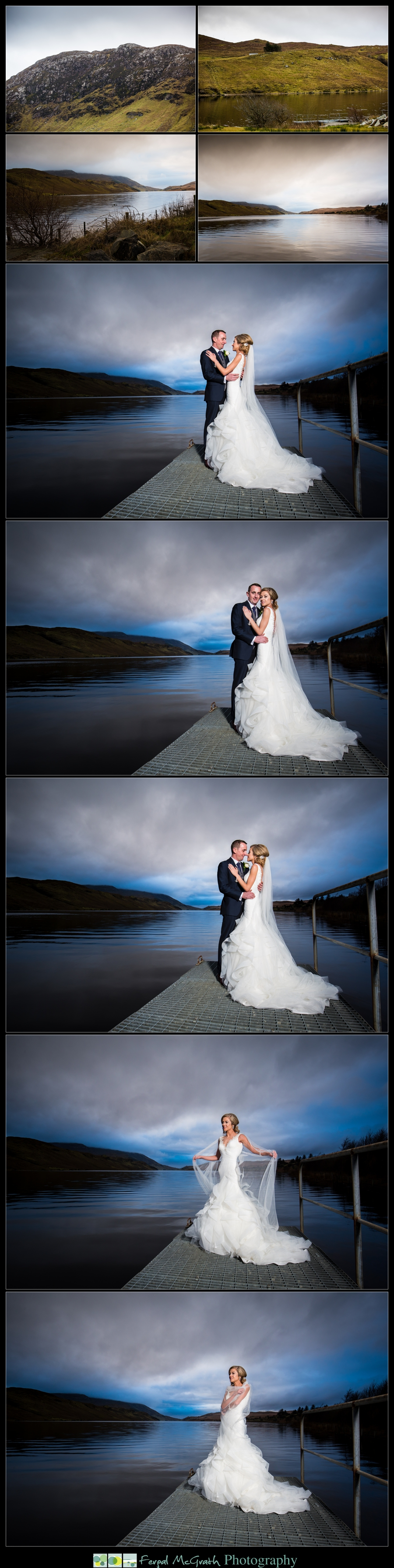 Silver Tassie Hotel Christmas Wedding beautiful photos taken on the shore of lough Finn in Fintown