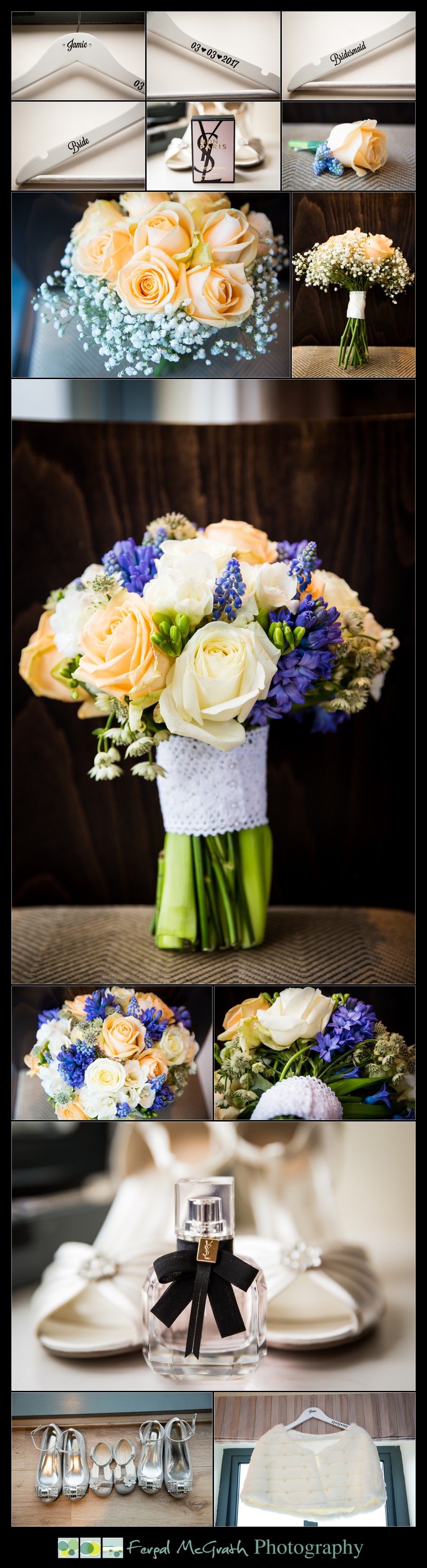 Castle Dargan Hotel Wedding Jamie and Andrew brides wedding flowers and shoes