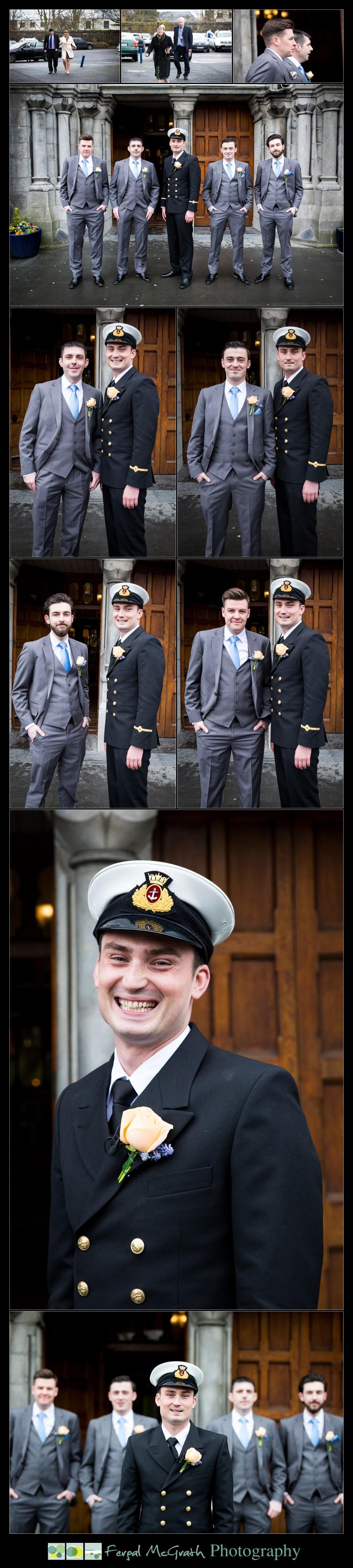 Castle Dargan Hotel Wedding Jamie and Andrew groom and his groomsmen