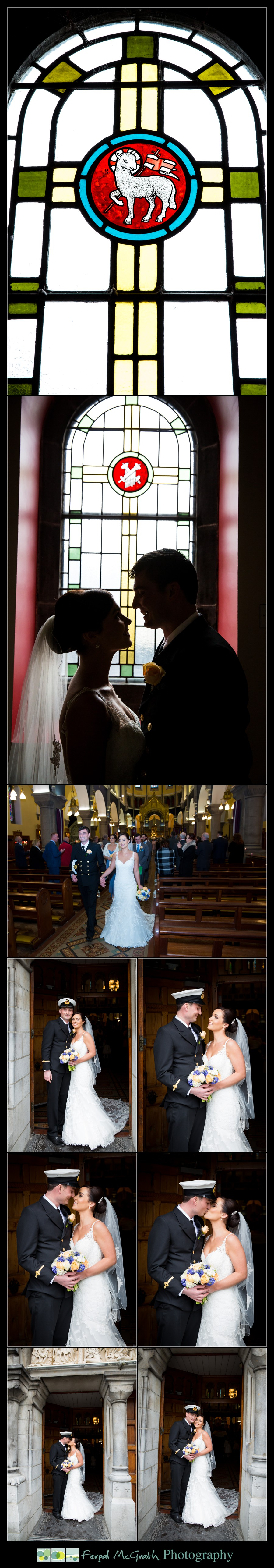 Castle Dargan Hotel Wedding Jamie and Andrew bride and groom inside sligo cathedral