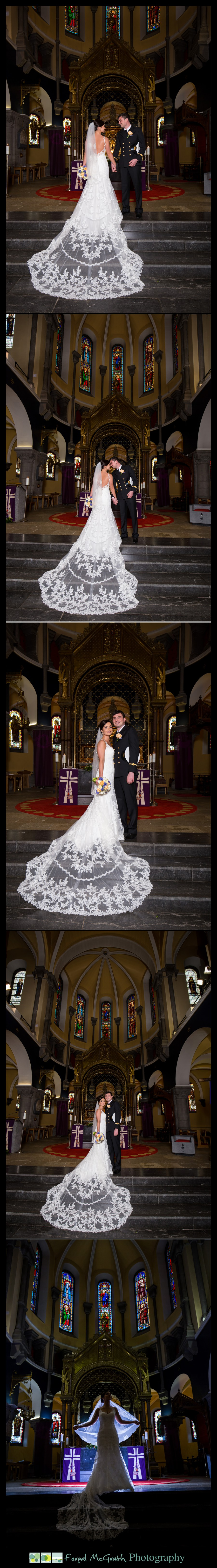 Castle Dargan Hotel Wedding Jamie and Andrew bride and groom photos in sligo cathedral