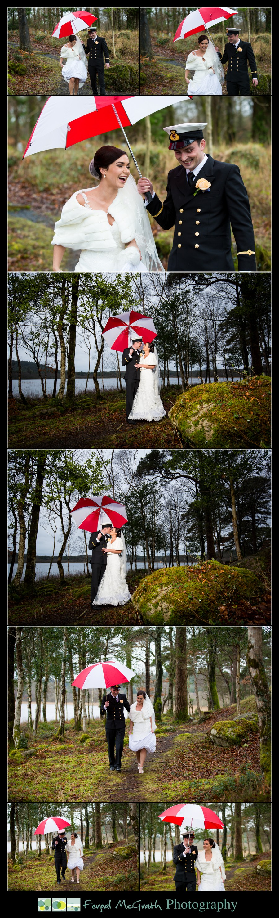 Castle Dargan Hotel Wedding Jamie and Andrew bride and groom in the woods