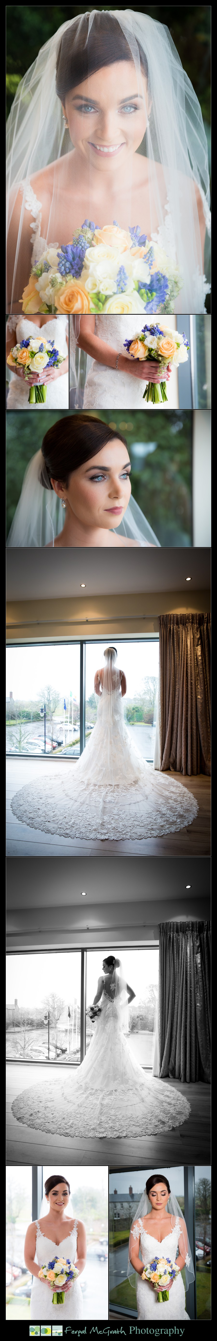 Castle Dargan Hotel Wedding Jamie and Andrew beautiful bride and her wedding dress
