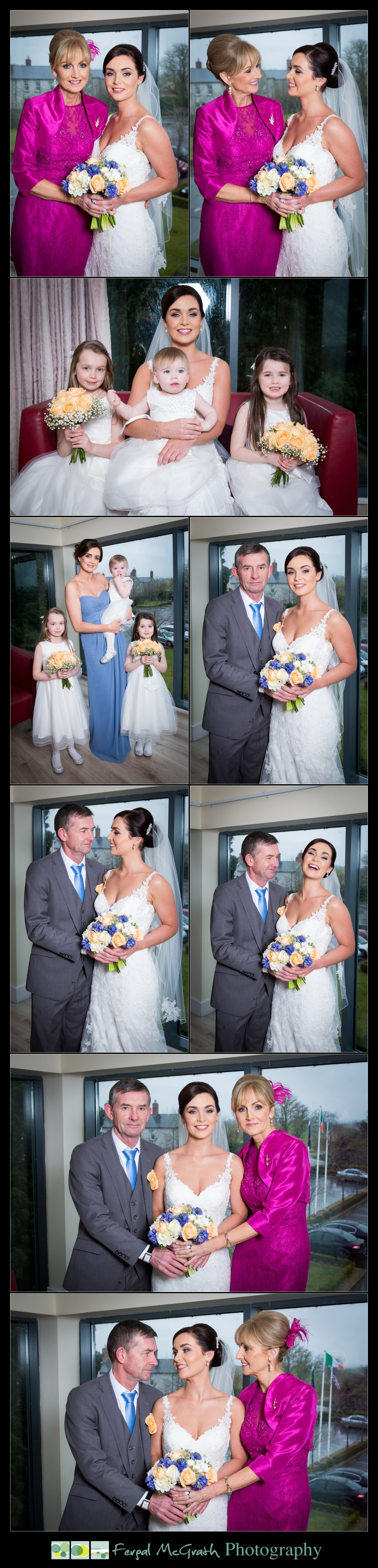 Castle Dargan Hotel Wedding Jamie and Andrew bride and her mum and dad and family