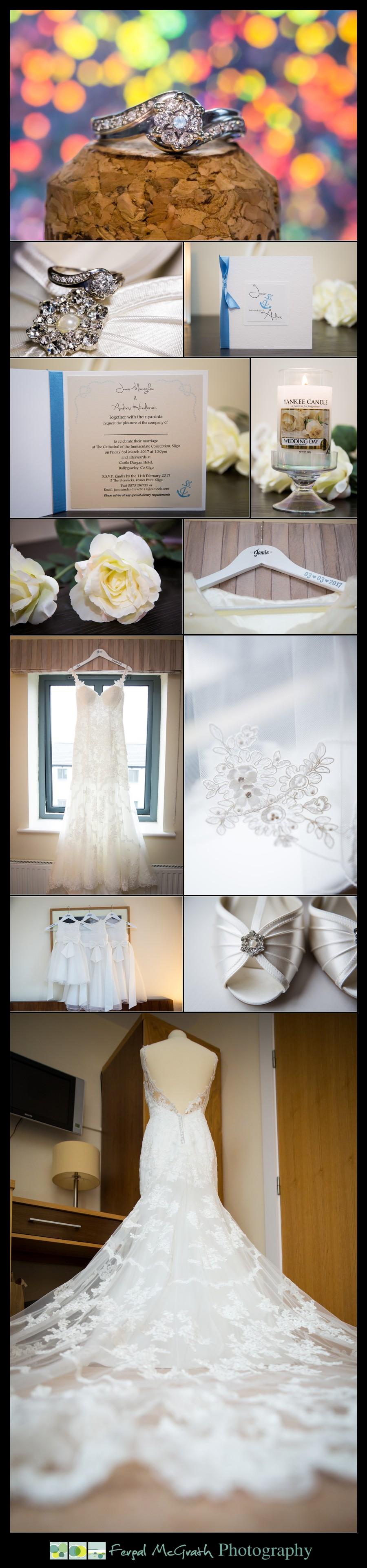 Castle Dargan Hotel Wedding Jamie and Andrew brides wedding dress
