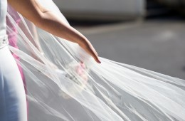brides veil wedding photo
