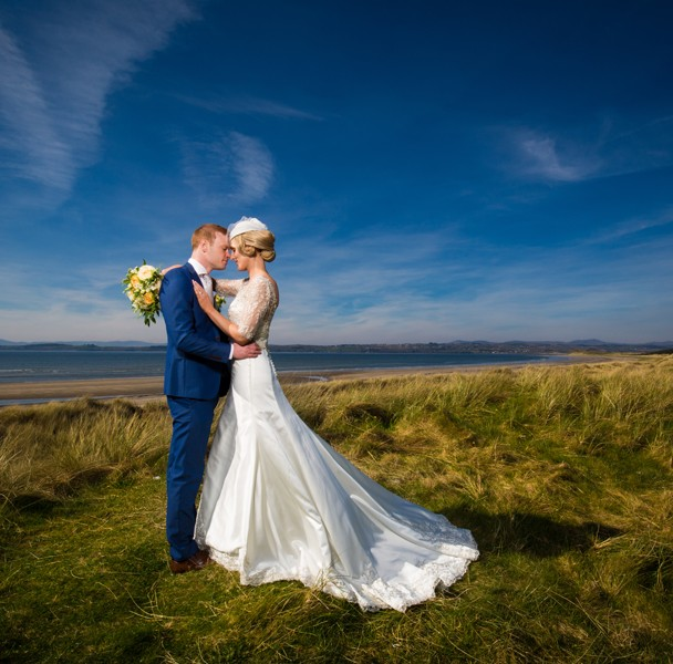 wedding photo at murvagh beach in summer