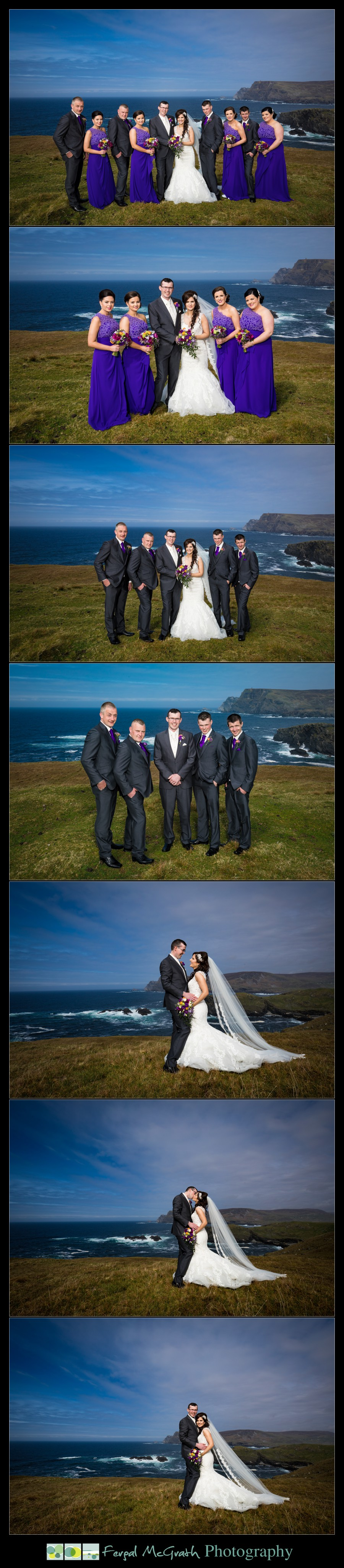 Glencolmcille wedding amazing wedding photos taken at glencolmcille head in county donegal ireland
