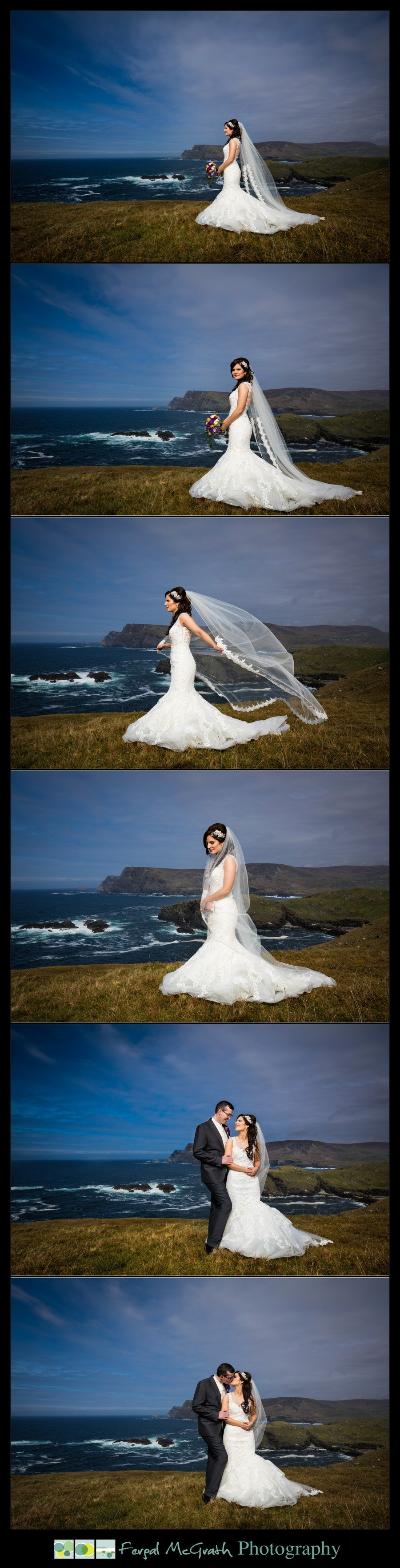 Glencolmcille wedding beautiful bride portraits